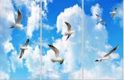 Horizontal Layout Seagulls sky cloud ceiling lens diffuser